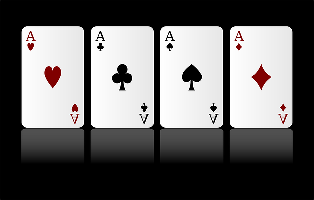 Vier Pokerkarten